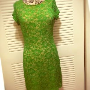 Laced spring green dress